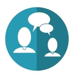 people talking bubble speech communication shadow vector image