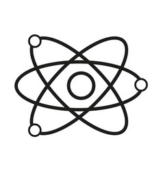 Science model of atom sign vector
