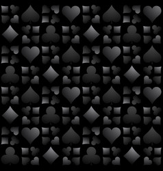 seamless casino gambling black background vector image