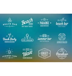 Set of Beach Sea Bar Elements and Summer can be vector image vector image