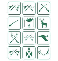 Set of hunting club logo icon vector