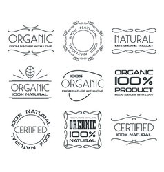 Set of labels for organic products vector image vector image