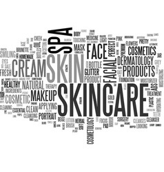 skincare word cloud concept vector image