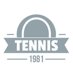 tennis logo simple gray style vector image