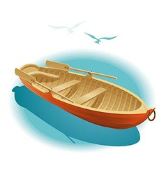 Water walk on boat vector image vector image