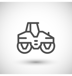 Road roller line icon vector
