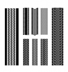 Tire patterns vector