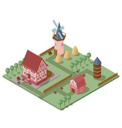 Isometric farming concept vector