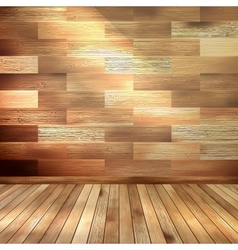 Old wooden interior room eps 10 vector