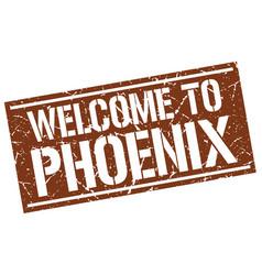 Welcome to phoenix stamp vector