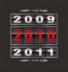 2010 carbon fiber change vector image vector image