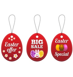Easter special tags in the form of egg vector