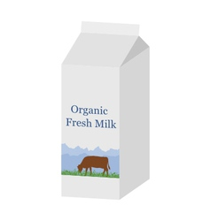 Bio milk carton vector