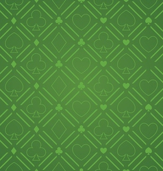 Seamless abstract poker pattern green vector