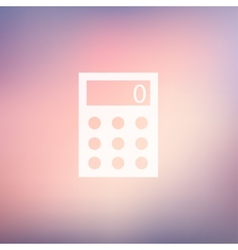 Calculator in flat style icon vector
