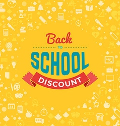 Back to school typographic vintage design vector