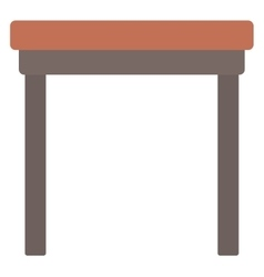 Brown wood coffee table vector