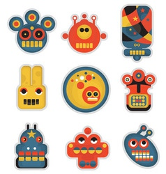 Robot faces vector