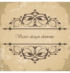 Beautiful vintage frame border vector