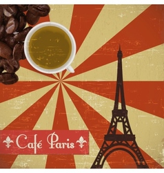 Grungy French coffee background vector image