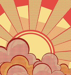 Sky background with sun vector image