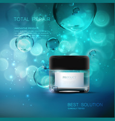 Beauty anti aging cream ads vector