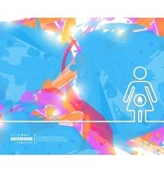 Creative pregnant art vector