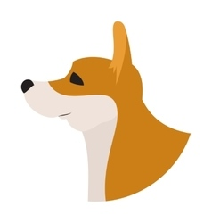 Dog head corgi pembroke welsh vector image