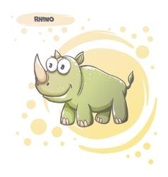 Drawn Cartoon Rhino vector image