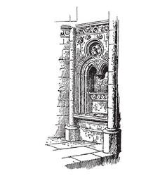 Fenestella in the church of norrey vintage vector