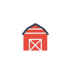 flat icon barn element of vector image vector image