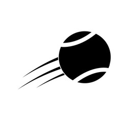 Flying tennis ball fast sport icon vector