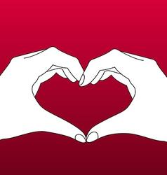 Hands in Form of Heart vector image vector image