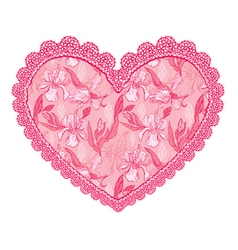 heart lace pattern 2 380 vector image vector image