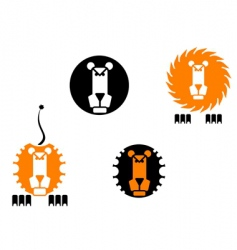 Lion icons vector