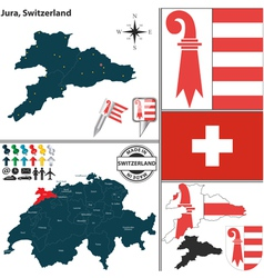Map of Jura vector image vector image