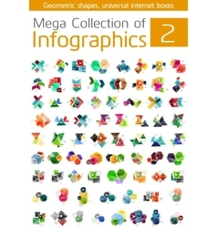 Mega collection of infographic templates vector image vector image