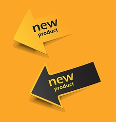 ne label arow vector image