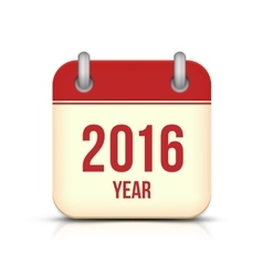 New Year 2016 Calendar Icon vector image