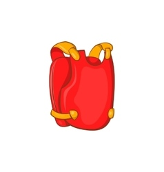 Red paintball vest icon cartoon style vector