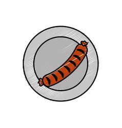 Sausage icon vector
