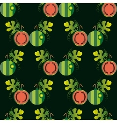 Seamless with the slices of watermelon vector image vector image