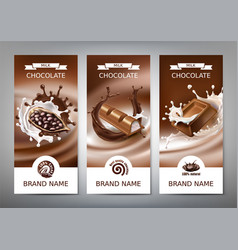 Set of 3d realistic banners vector