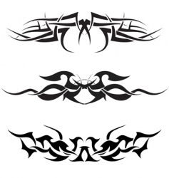 tattoos set vector image vector image