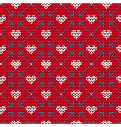 Ugly sweater for lovers vector