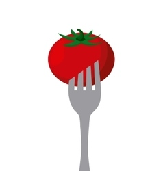 vegetable in a fork vector image