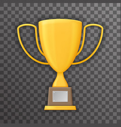 Victory Prize Award Realistic 3d Symbol vector image