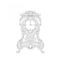 Vintage baroque classic clock vector