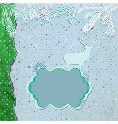 vintage Christmas Reindeer card vector image vector image