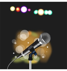Microphone cord abstract spotlight vector